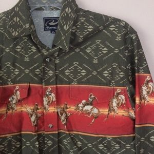 Roper | Cowboy Horse Print Western Shirt Snap Down
